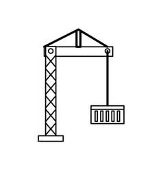 Container crane isolated vector