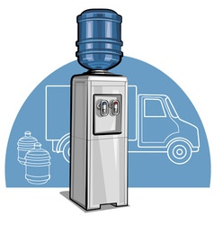 electric water cooler vector image vector image