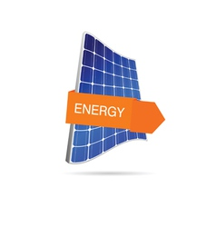 energy solar panel color vector image
