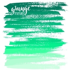 Green ink brush strokes vector