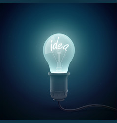 idea light globe background vector image