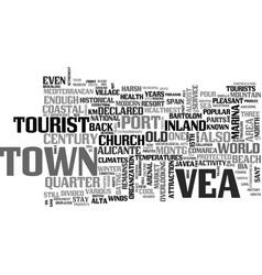 Javea a coastal paradise text background word vector