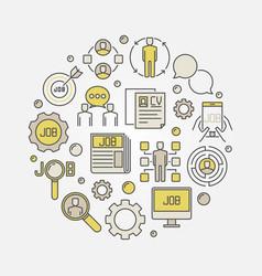 job search circular sign vector image vector image