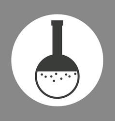 laboratory beaker flask chemistry dark design vector image