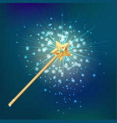 Magic wand realistic background vector