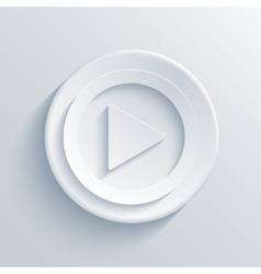 modern play light circle icon vector image