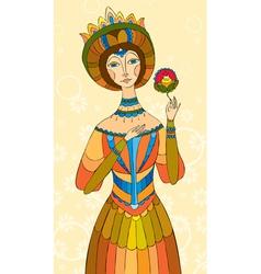 princess girl flower vector image