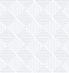 Quilling paper connected square spirals vector
