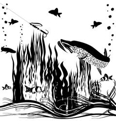 River predator vector image vector image