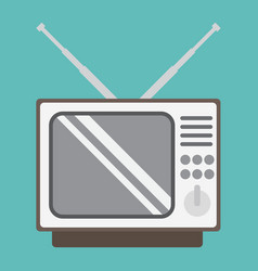 Vintage tv flat icon household and appliance vector