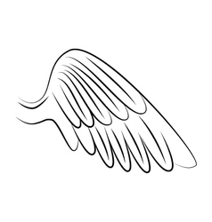 wing freedom symbol icon graphic vector image vector image