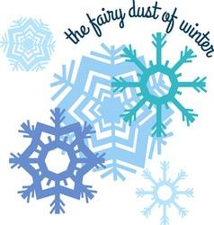 Winter fairy dust vector