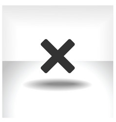 X mark icon vector