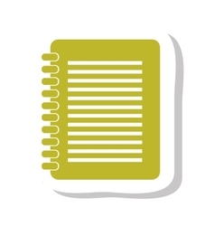 Notebook text isolated icon vector
