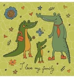 I love my family vector image