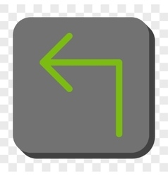 Turn left rounded square button vector