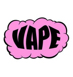 Smoke vape icon cartoon vector