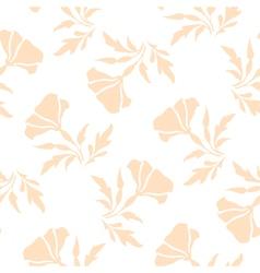Pale floral pattern vector image