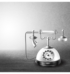 Telephone old black and white vector