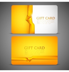 Gift cards with yellow ribbons vector