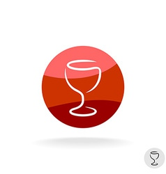 Wine glass logo template vector image