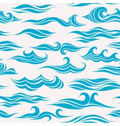 Seamless pattern of stylized waves vector