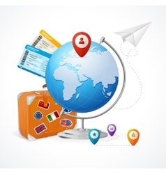 Travel Concept Globe vector image
