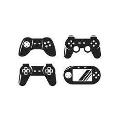 black video game vector image
