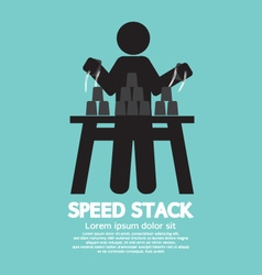 Black symbol speed stack vector