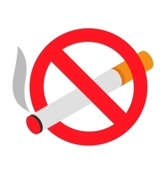 No smoking 3d isometric icon vector