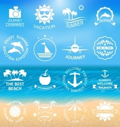 Set summer labelstemplates vector
