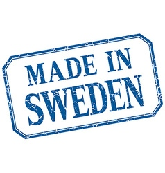 Sweden - made in blue vintage isolated label vector