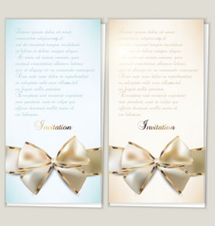 Card notes with ribbons vector