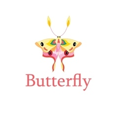 Symbol of a beautiful butterfly vector