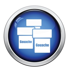 Gouache can icon vector image