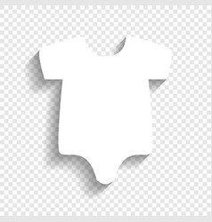 baby cloth white icon with vector image vector image