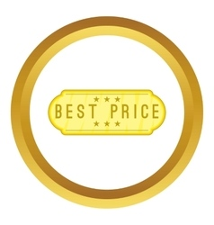 Best price label icon vector