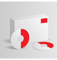 Blank software box with disc vector