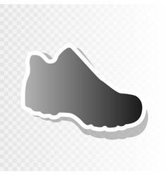 boot sign new year blackish icon on vector image