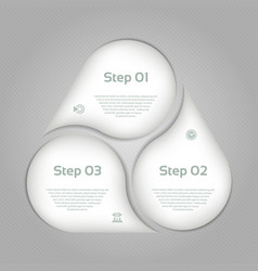 Business concept with 3 options vector