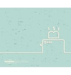 Creative toaster Art template vector image
