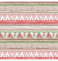 Ethnic boho seamless pattern Tribal art print vector image