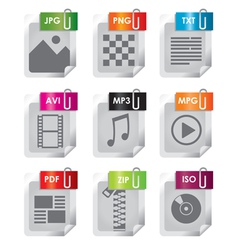 filetype icon vector image vector image