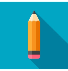 Flat Pencil Icon vector image