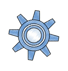 gear machinery isolated vector image vector image