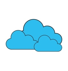 Isolated blue cloud design vector