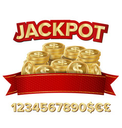 Jackpot isolated shining banner vector