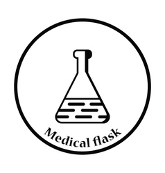Medical flask icon vector image vector image