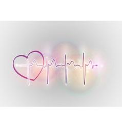 medical symbol ekg sweet heart vector image vector image