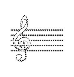 music violin clef sign g-clef black vector image vector image